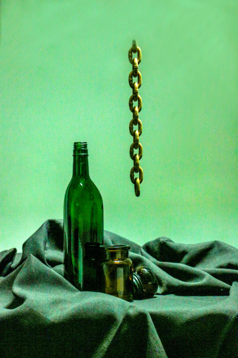 """Photography titled """"Brown Bottle"""" by Anthony Amor, Original Art, Digital Photography"""