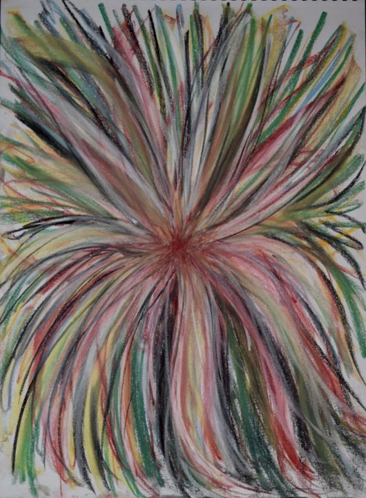 """Drawing titled """"Soul Illumination"""" by Amore Dilisio, Original Art, Pastel"""