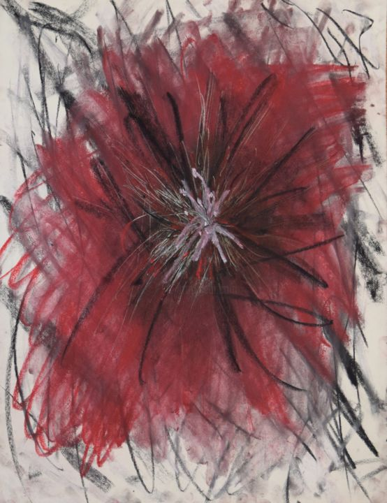 """Drawing titled """"A Blur"""" by Amore Dilisio, Original Art, Pastel"""