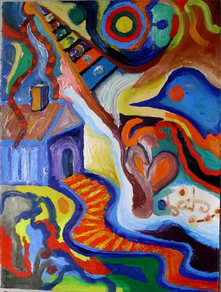 Painting,  56 x 76 cm ©2005 by Amos Plaut -  Painting