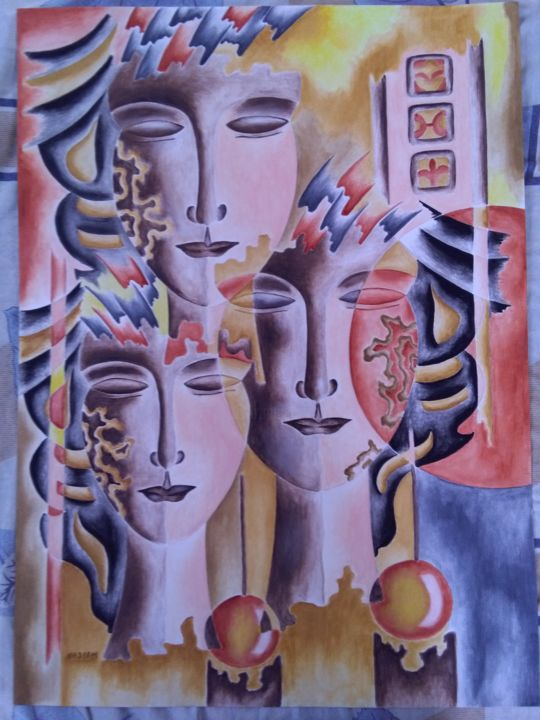 """Painting titled """"Face 6"""" by an6596524, Original Art, Watercolor"""