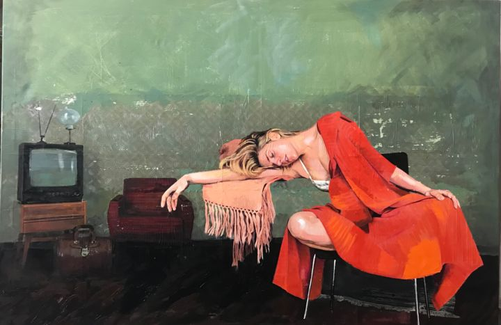 """Painting titled """"""""I'm so pathetic wh…"""" by Ana Golovic, Original Art, Oil"""