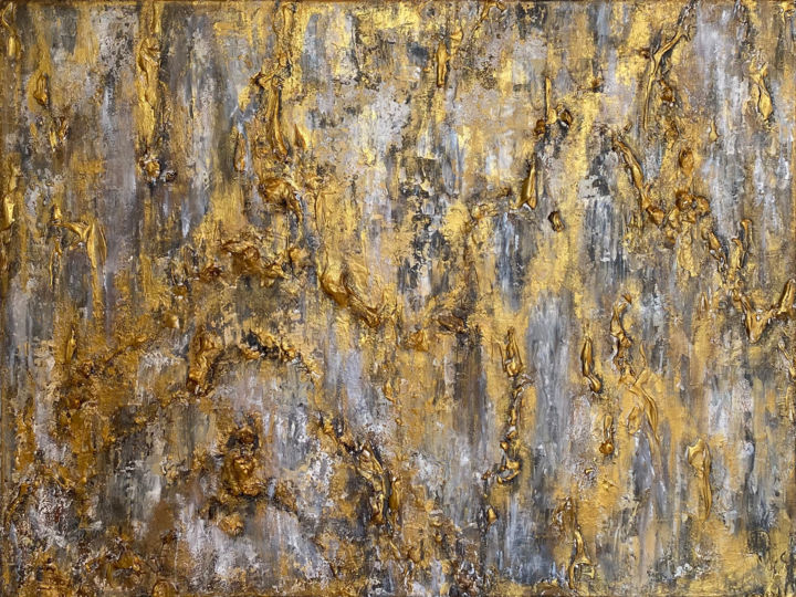 """Painting titled """"Eclipse of gray"""" by Ana Maksi, Original Art, Acrylic"""