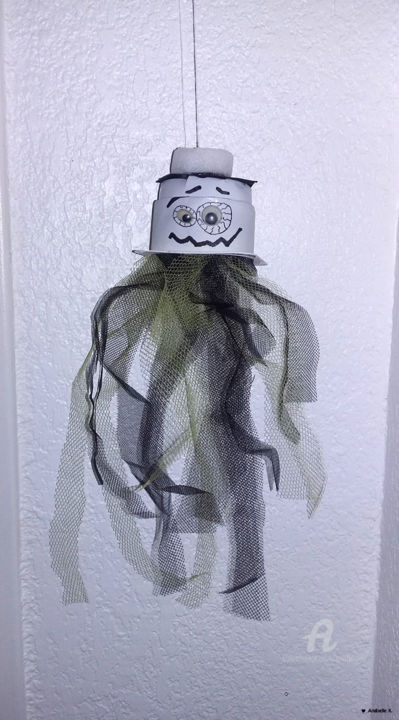 [RECYCLAGE] - Halloween - Fantôme à suspendre - Photography, ©2016 by Ana Felidae -                                                                                                                                                                                                                                                                                                                                                                                                                                                                                  Other, World Culture, Halloween, 31 octobre, Recyclage, Upcycling, Décoration, Fête, Fantôme, Ghost