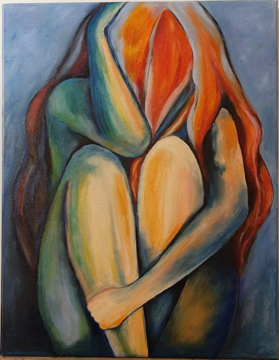 """Painting titled """"single"""" by Ana Isac, Original Art, Oil"""