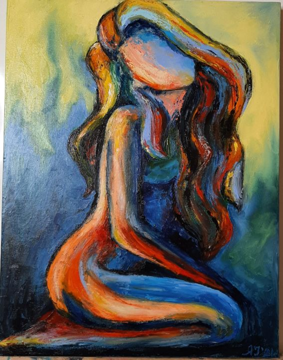 """Painting titled """".Gilr"""" by Ana Isac, Original Art, Oil"""