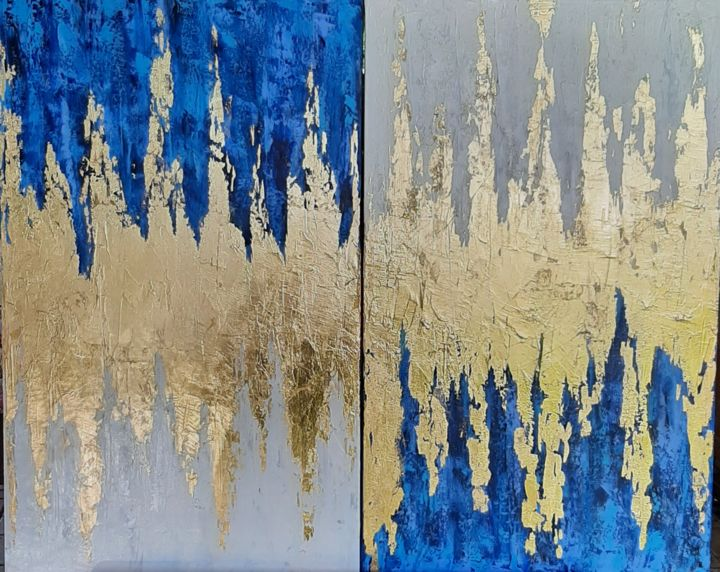 """Painting titled """"Blue"""" by Ana Isac, Original Art, Oil"""