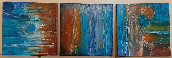 """Painting titled """"Trio"""" by Ana Isac, Original Art, Oil"""