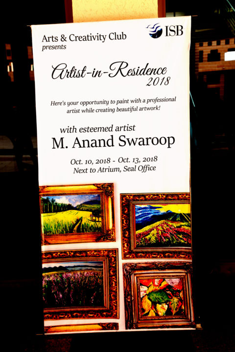 BANNER - Painting ©2018 by Anandswaroop Manchiraju -                                                            Abstract Expressionism, Plastic, Landscape, BANNER