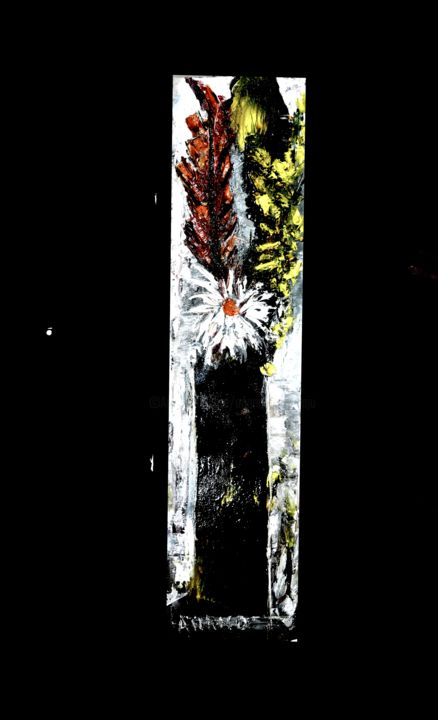 FLORAL FANTASY-8 - Painting,  8.5x37x1 in ©2019 by Anandswaroop Manchiraju -                                                            Abstract Expressionism, Canvas, Fantasy, FLORAL FATASY
