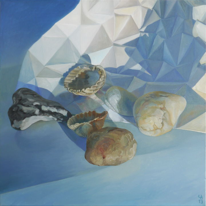 """Painting titled """"Shapes and shells II"""" by Anastasia Chernysheva, Original Art, Oil"""