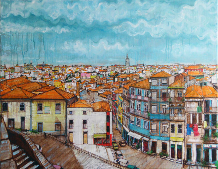 """Painting titled """"Porto 2015"""" by Anat, Original Art, Oil"""