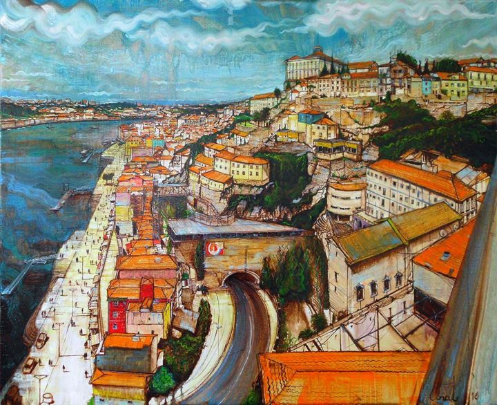 """Painting titled """"Porto 2016"""" by Anat, Original Art, Oil"""