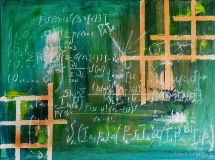 """Conceptual artwork """"The game of life"""" - © 2019 science art painting, colorfield painting, schoolboard, chalk blackboard, mathlovers, game theory, applied sciemce, conceptual painting, paintings store, chalk paintings, acrylic paintings, buy art online, painting modern, Conceptual, abstract paintings, online paintings, cool painting, artists galleries, art with words, interiors paintings Online Artworks"""