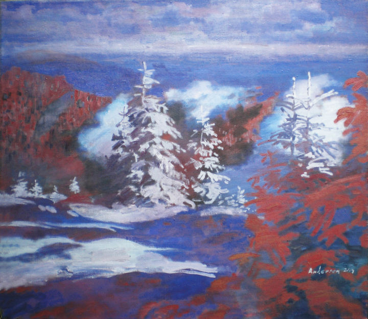 """Painting titled """"snow and shadow"""" by Robert Andersen, Original Art, Oil"""