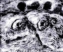 Gravura 04 - Printmaking, ©2006 by Luiz Carlos De Andrade Lima -                                                                                                                                                                          Expressionism, expressionism-591, People