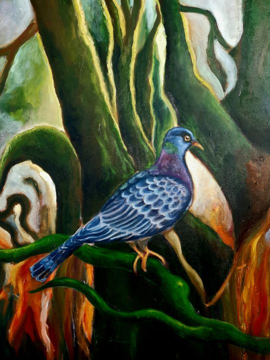 """Painting titled """"Garajonay"""" by Andrea Gedl, Original Art, Oil"""