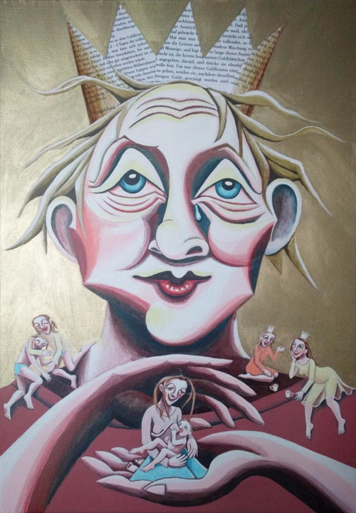 """Painting titled """"The good King"""" by Andrea Riegler, Original Art, Acrylic"""