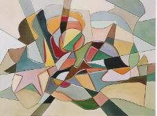 abstrato - Painting,  60x80 cm ©2004 by Andréa Queirós -