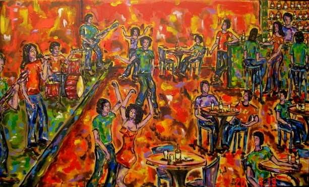 Show da Banda / Band Show - Painting,  0.4x23.6 in, ©2006 by Andréa Dórea -