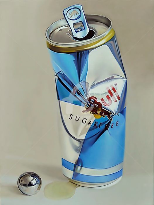 """Painting titled """"Red bull 2.0"""" by Andreas Bianchi, Original Art, Oil"""