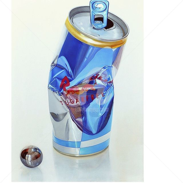 """Painting titled """"Red bull"""" by Andreas Bianchi, Original Art, Oil"""