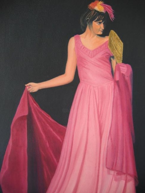 """Painting titled """"The Seductress"""" by Andrei Overweel, Original Art, Oil"""
