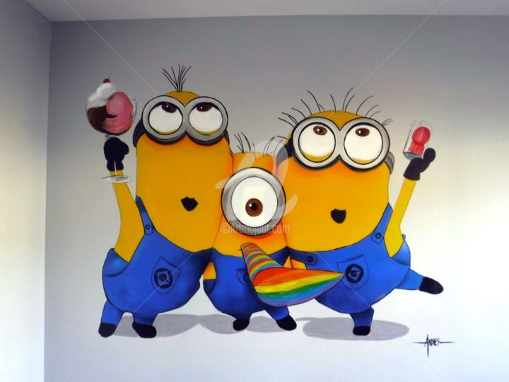 Minions Painting X By Frederic Andres Art Deco Other