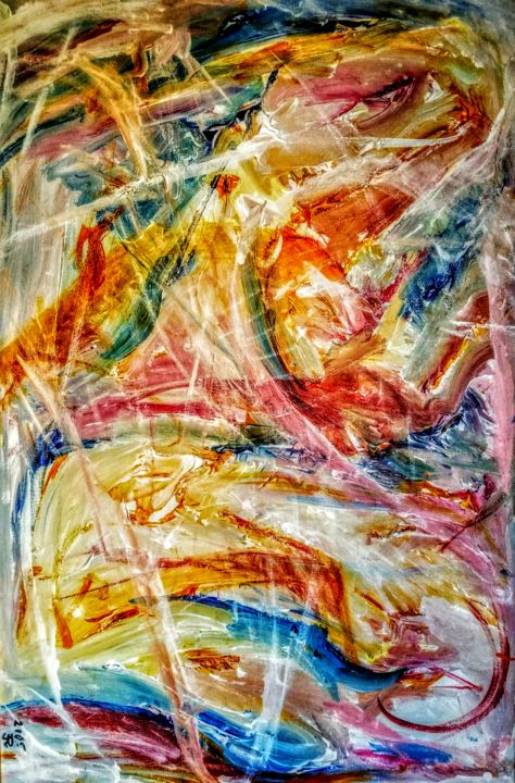 Woman IX or Katrina - Painting,  36x24x1 in ©2005 by Andrew Walaszek -                                            Abstract Expressionism, Women, Woman