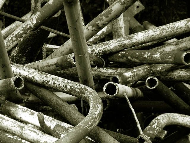 """Photography titled """"Pipes (scrapyard se…"""" by Andrew Dokoupil, Original Art,"""