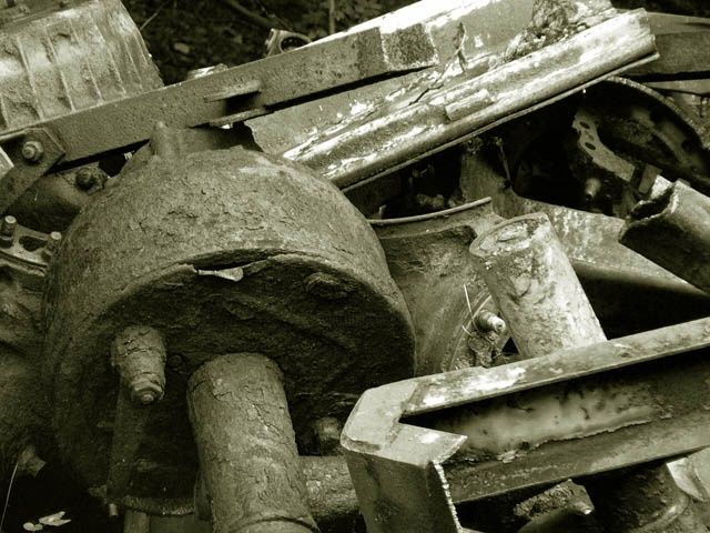 """Photography titled """"Girders (scrapyard…"""" by Andrew Dokoupil, Original Art,"""