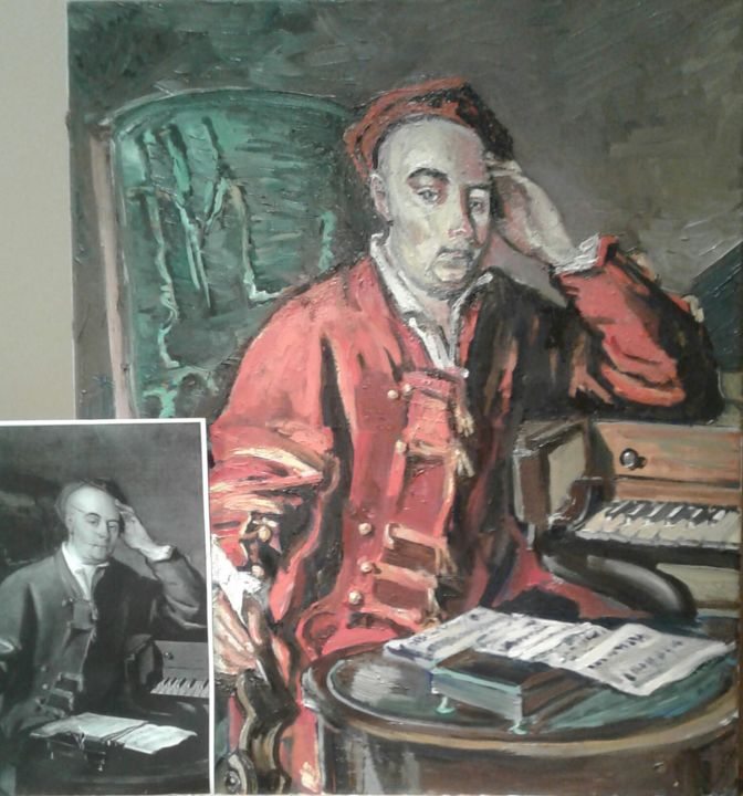 """Painting titled """"Portrait of George…"""" by Andrew Moore, Original Art, Oil"""