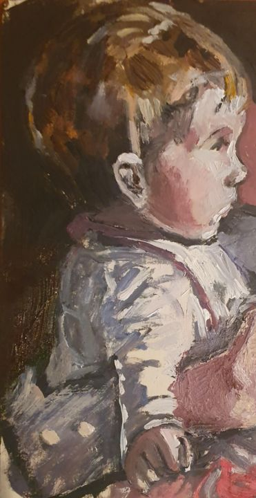 """Painting titled """"Five months"""" by Andrew Moore, Original Art, Oil"""