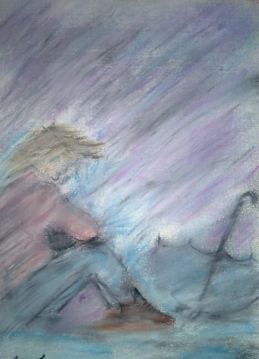 """Painting titled """"Immensity"""" by The Real Pastelist Andrew Smith, Original Art, Pastel Mounted on Wood Panel"""