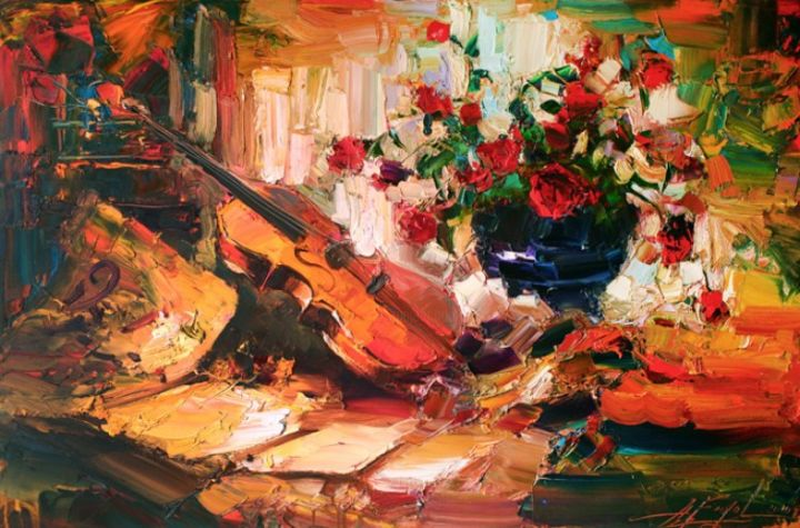 """Painting titled """"SUMMER ROMANCE"""" by Andrey Figol, Original Art, Oil"""