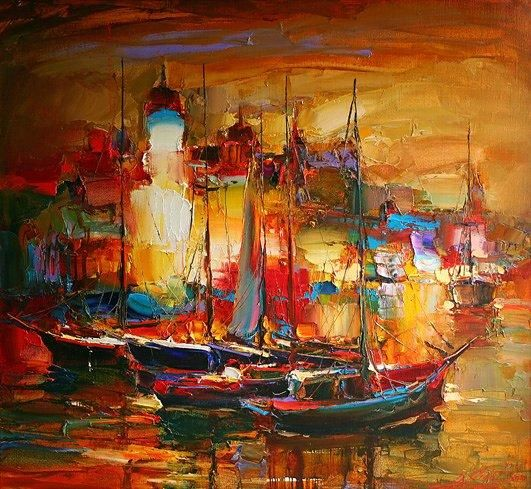 """Painting titled """"EVENING SONATA"""" by Andrey Figol, Original Art, Oil"""
