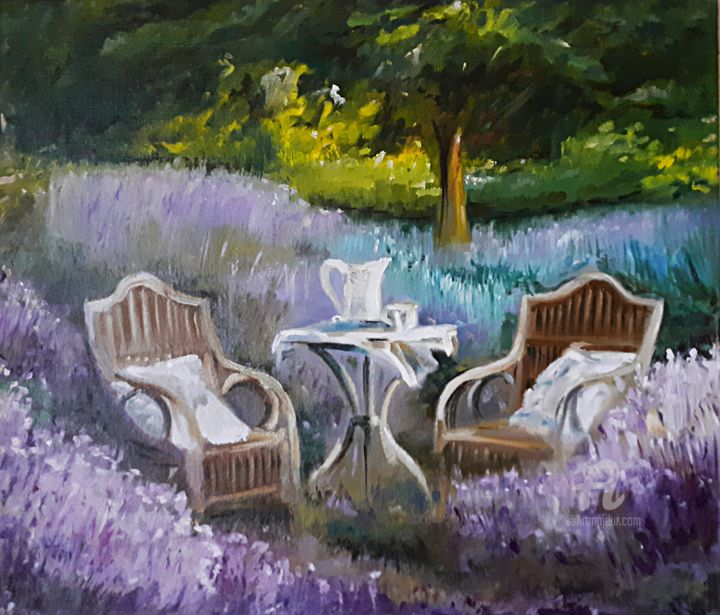"""Painting titled """"When the holiday wi…"""" by Andriy Maslyanko, Original Art, Oil Mounted on Stretcher frame"""