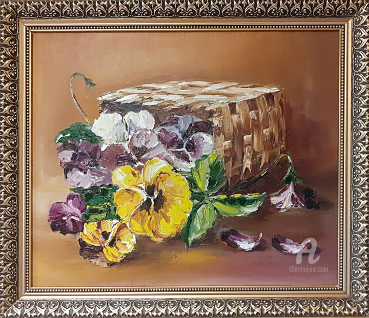 """Painting titled """"The flowers of our…"""" by Andriy Maslyanko, Original Art, Oil Mounted on Stretcher frame"""