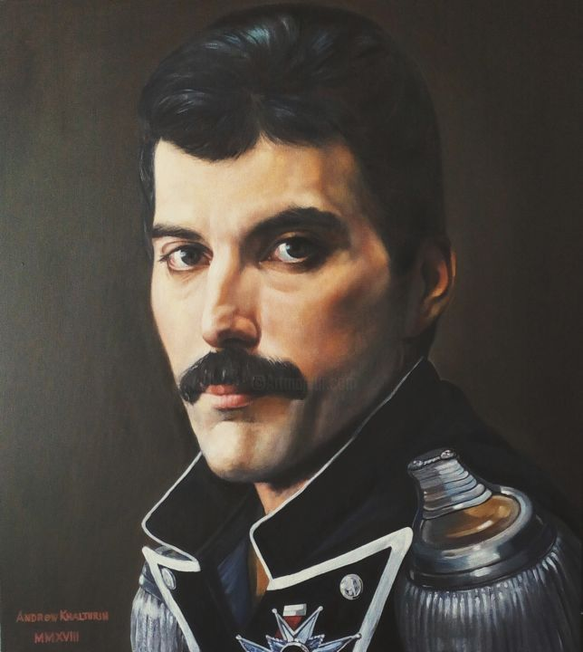 """Painting titled """"Man in artistic ima…"""" by Andrew Khalturin (HAnder), Original Art, Oil Mounted on Stretcher frame"""