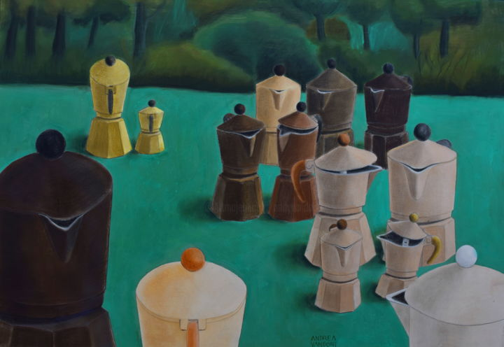 FRATERNITY - © 2013 fraternity, races, love, friendship, together, wood, equality, gender, yellow, green, colors, generations, old age, young, coffee pots, brothers, sisters Opere d'arte online