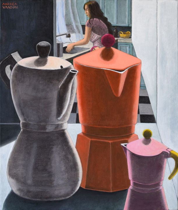 THREE AGES Painting by Andrea Vandoni | Artmajeur