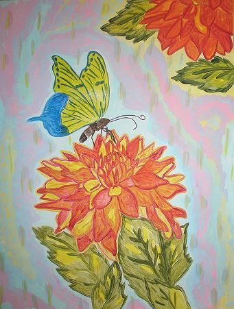 """Painting titled """"the_butterfly_and_t…"""" by Angbianca, Original Art,"""