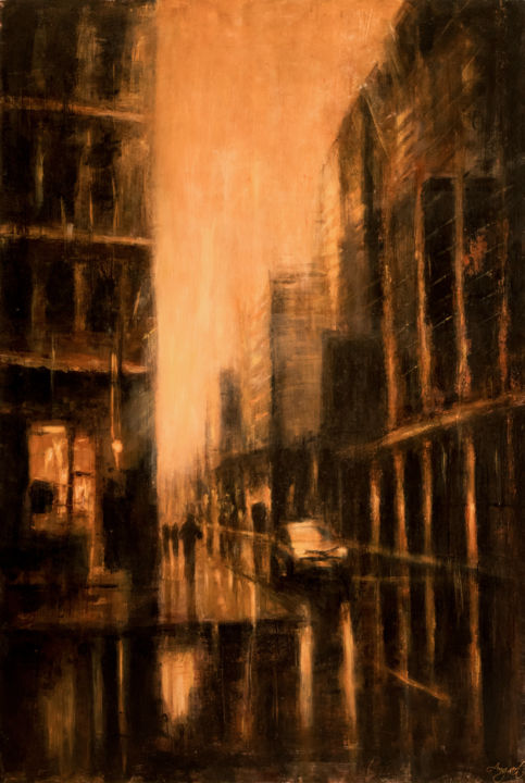 """Painting titled """"Solitary"""" by Angela Suto, Original Art, Oil"""