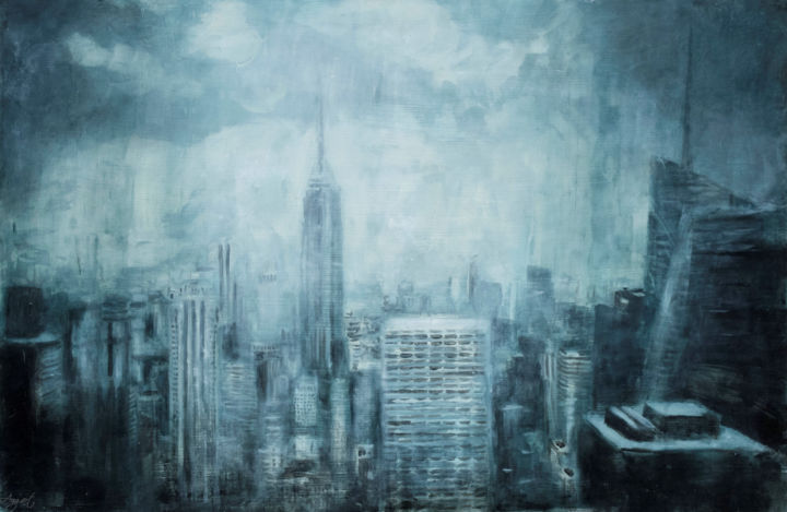 """Painting titled """"Enigma"""" by Angela Suto, Original Art, Oil"""