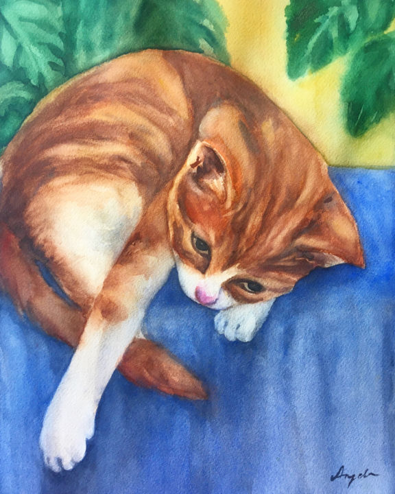 """Painting titled """"Pače / Ducky"""" by Angela, Original Art, Watercolor"""