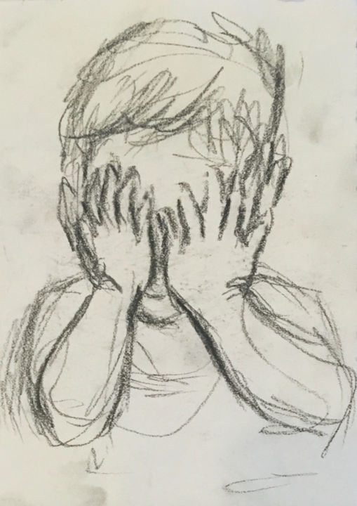 """Drawing titled """"Child 1"""" by Angela, Original Art, Charcoal"""