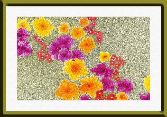 flores - Design,  27x19 cm ©2009 by Angelica Trompieri -            drawing in ink on paper
