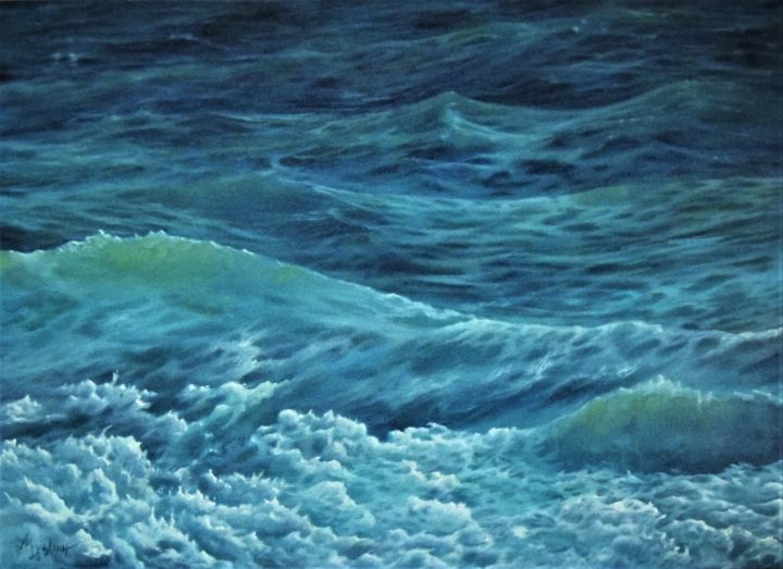 """Painting titled """"""""Perpetual motion""""…"""" by Ageliki [Αγγελικη], Original Art, Oil"""