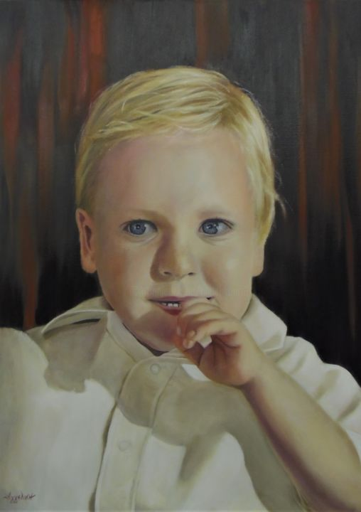Billy by ageliki 50x70cm oil on canvas painting 70x50x2 cm