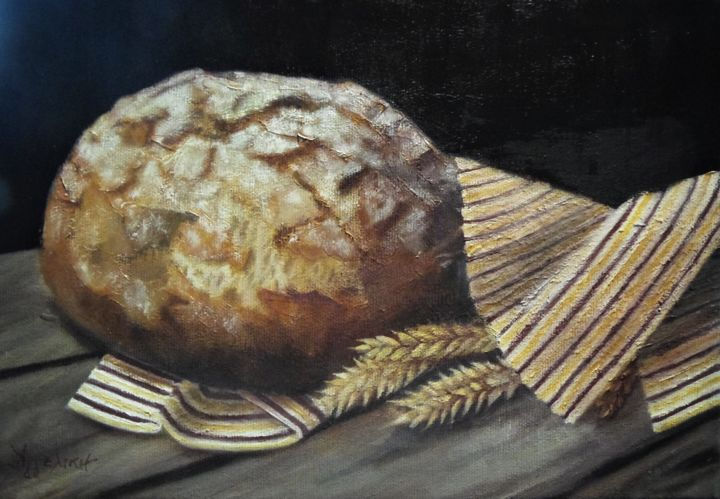 """..our Daily Bread..."", 20Χ30cm, Oil On Canvas Painting By"